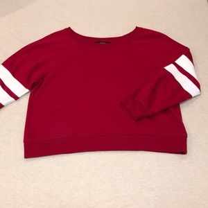Forever 21 Red Crop Sweater